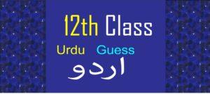 2nd year Urdu Guess Paper